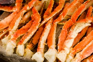 cooked king crab legs